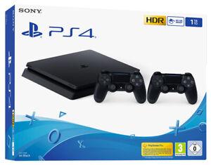 PLAYSTATION 4 PS4 1TB F Chasis Negro + 2 Controlador Dualshock 4 V2 Consola
