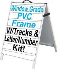 Pvc A Frame 24x36 Sidewalk Sign Withletter Tracks Amp Inserts