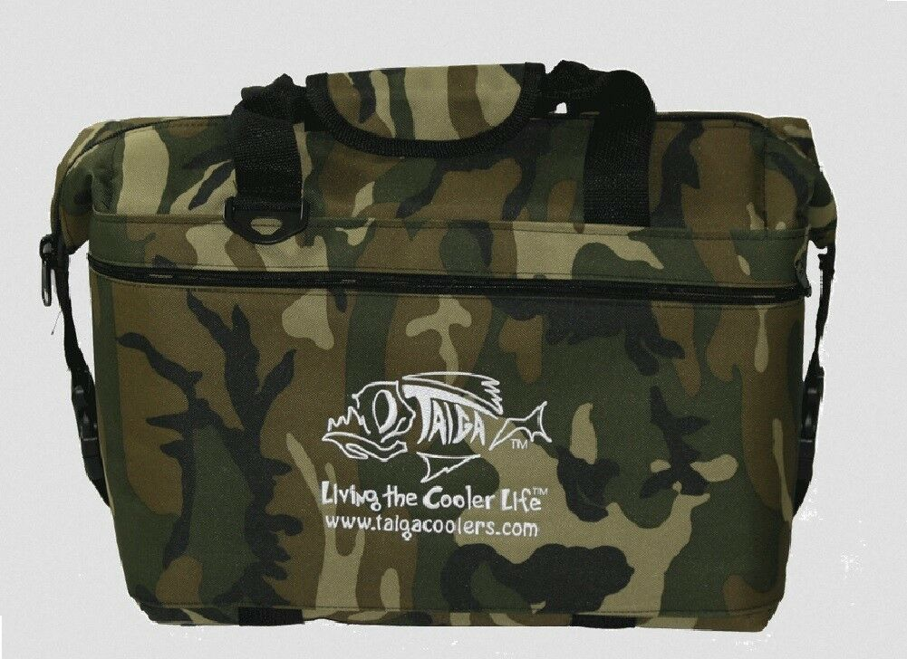 NEW Taiga Coolers Camo Soft Sided Cooler with Taiga Bottle Opener Keychain