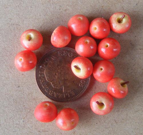 1:12 Maßstab 9 Rot Delicious Äpfel Tumdee Puppenhaus Miniatur Früchte Küche