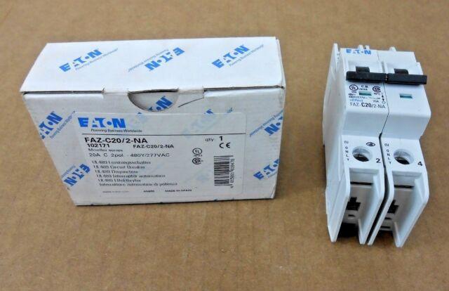 Eaton FAZ-C20//2-RT 20A 2pol 480Y//277VAC