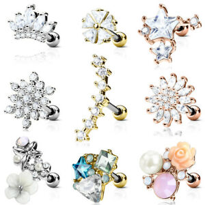 Helix-Piercing-Orecchio-Spina-Tragus-Cartilage-bacchetta-Cartilagine-Orecchino-pietra-gioielli