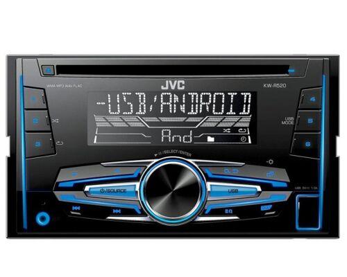 JVC Radio 2 DIN USB AUX PER SMART FORTWO c451 Facelift 09//2010-12//2014 Nero
