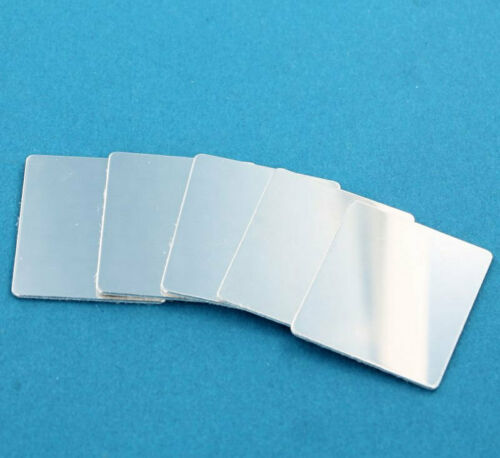 Rectangle Stamping Blanks 10 Tags MT270 28.8mm x 25.5mm Silver Aluminium