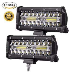 2x480W 7/'/' LED Arbeitsscheinwerfer Offroad Scheinwerfer Auto Jeep Bagger 12V 24V
