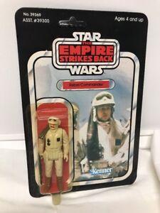 Vintage Kenner Star Wars 1980 Rebel Commander Esb 41 Dos non perforé