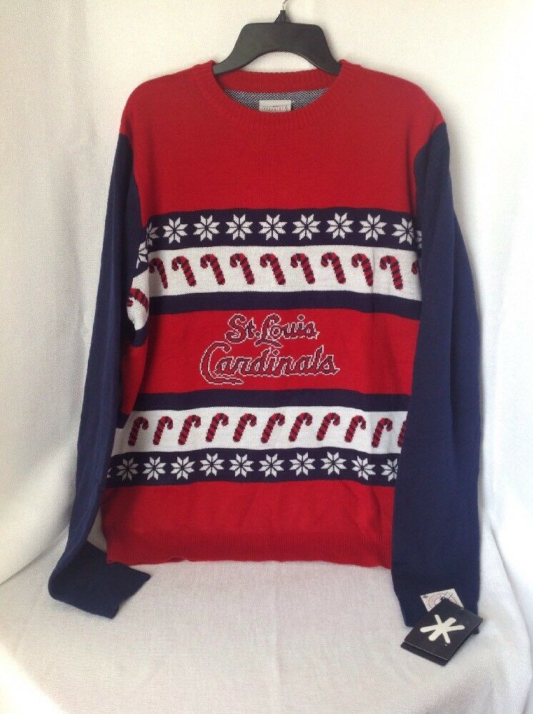 Genuine MLB St Louis Cardinals Men's Christmas Holiday Sweater - Size XL