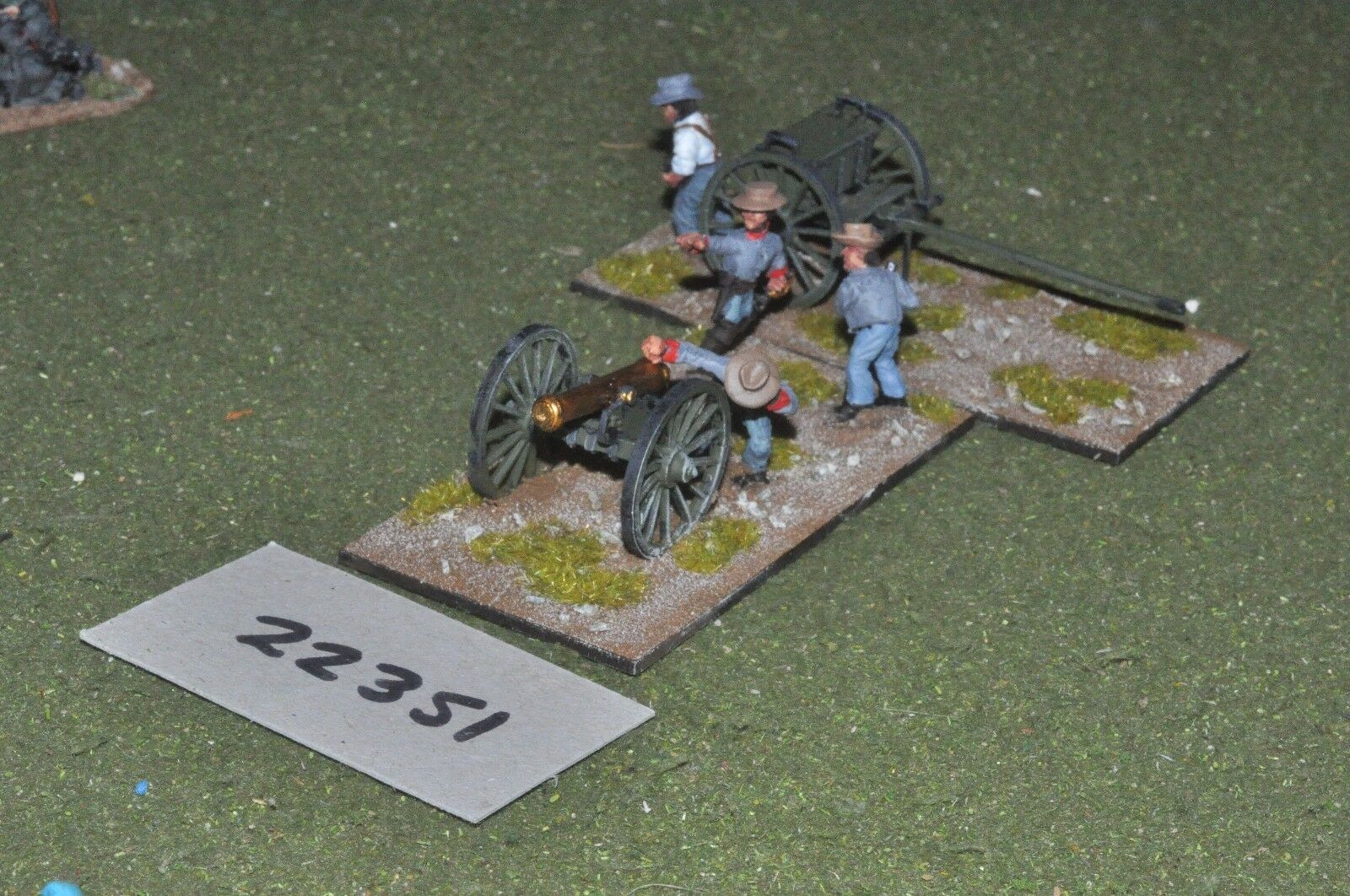 25mm ACW   confederate - american civil war 1 gun & limber art - art (22351)
