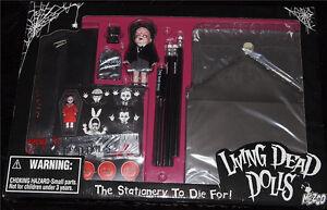 Living-Dead-Dolls-Stationery-set-Goth-Horror-School-Time-Sadie-Great-Gift-NIB