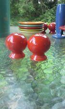 ROUND BALL BULB SALT & PEPPER SHAKERS scarlet FIESTA