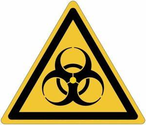 """Cartelli adesivi pericolo ISO 7010  """"Pericolo rischio biologico"""" - W009"""