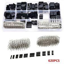 620pcs Wire Jumper Pin Header Connector Kit Dupont Housing Mf Crimp Pins Tools