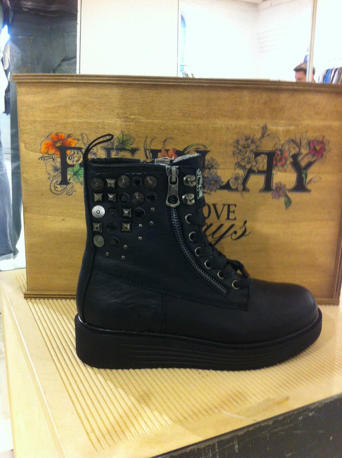 Zapatos señora zapatos Replay zapatos Plateau botín botas tachuelas negro Plateau zapatos 51d2a8