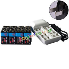 20x 9V 6F22 PPS 600mAh Ni-Mh Rechargeable Battery + 8 Slot Batteries Charger