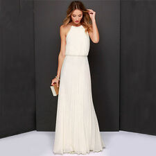 Ladies Formal Long Chiffon Tops Prom Evening Party Bridesmaid Wedding Maxi Dress