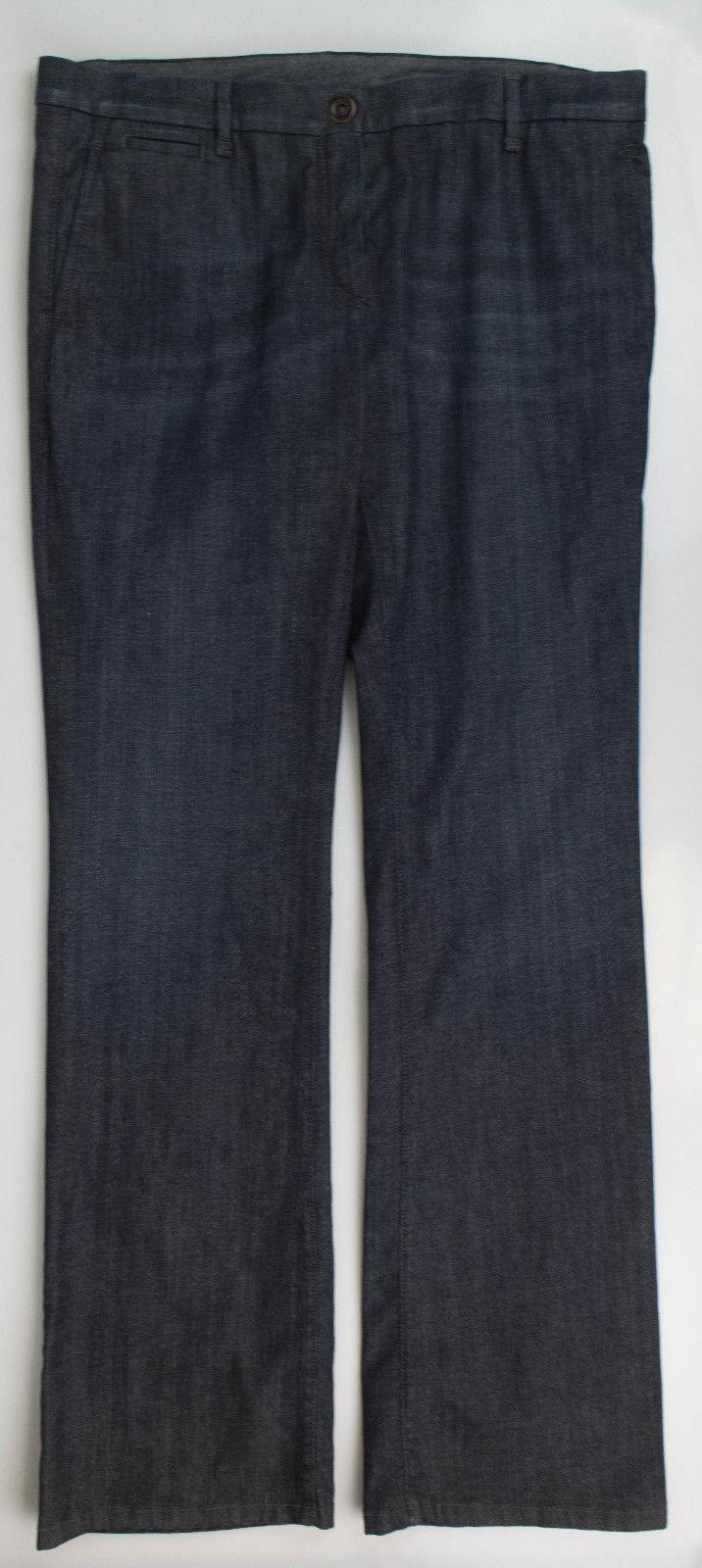 Neu Brunello Cucinelli Damen Blau Baumwolle Mischung Jeans Hose Größe 48 12
