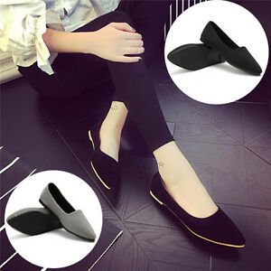 New-Womens-Casual-Pointed-Toe-Slip-On-Loafers-Boat-Shoes-Ballet-Flats-Shoes