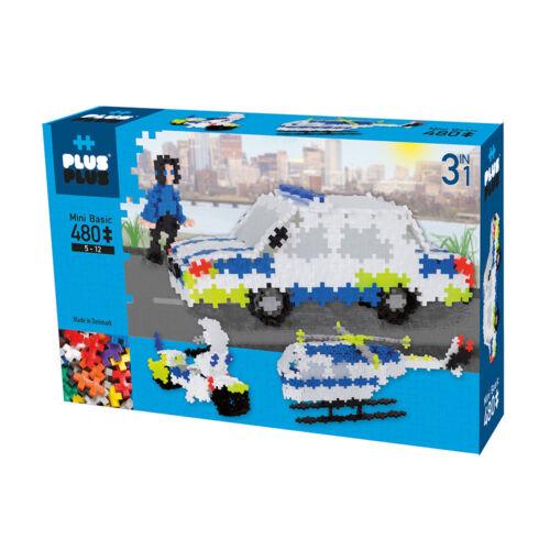 Neu Plus-Plus Mini Basic 480 Polizei 3-in-1 Konstruktion Kleinkinder Spiel!