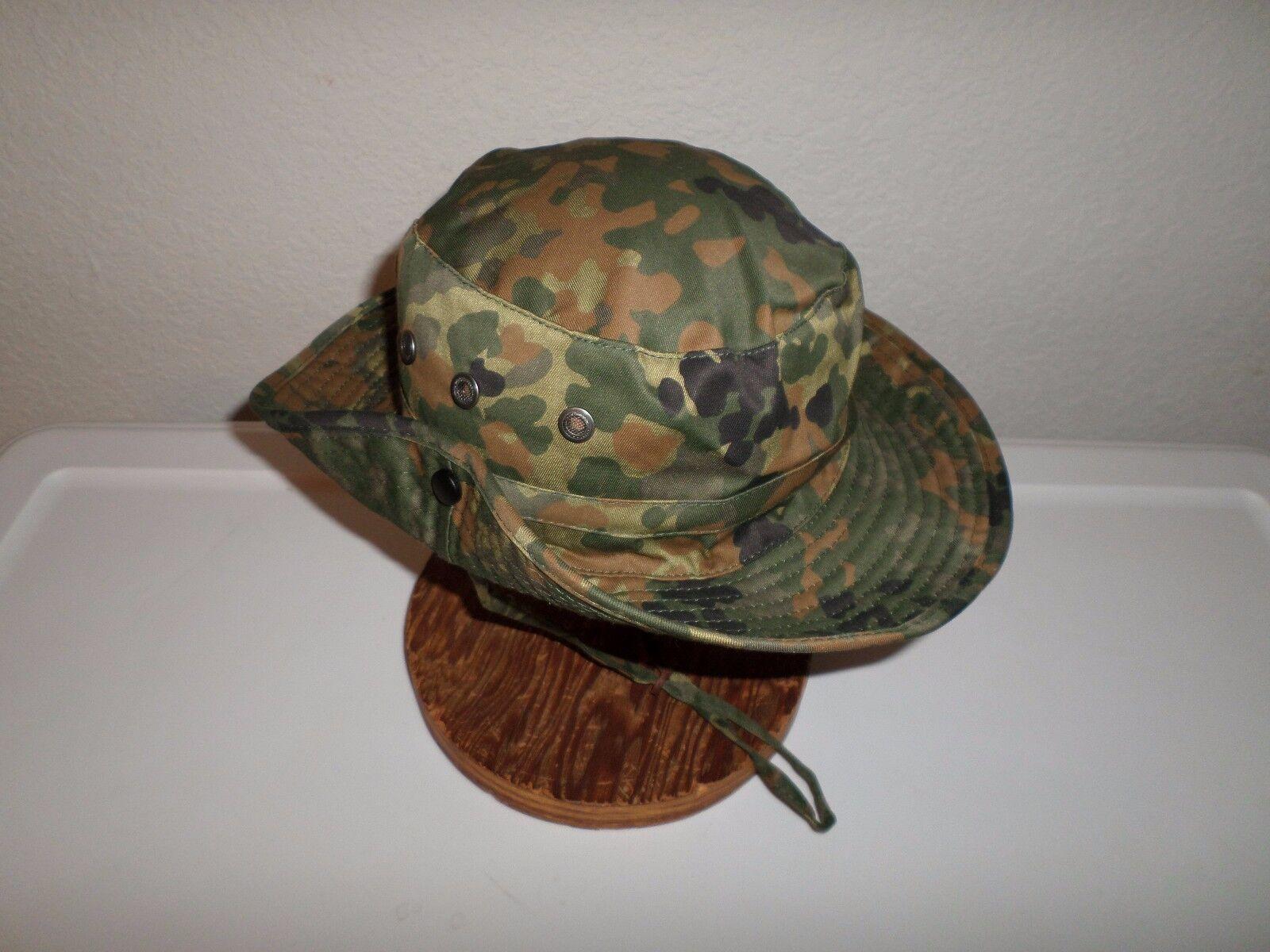 Buy German Flecktarn Camouflage Boonie Hat Safari Hat Size Large ... e2fbab1bf07