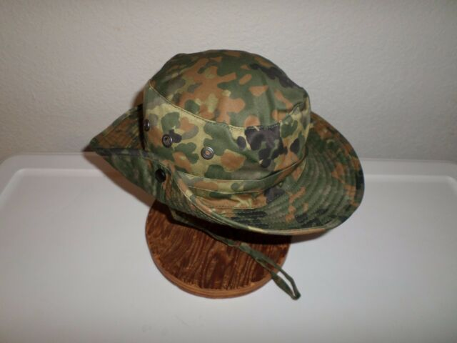 f1a749fdeb9 German Flecktarn Camouflage Boonie Hat Safari Hat Size Large for ...