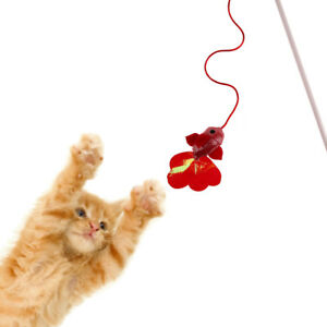 Kitten-Pet-Cat-Teaser-Red-Fish-Interactive-Fun-Play-Toy-Wire-Chaser-Wand-Stick