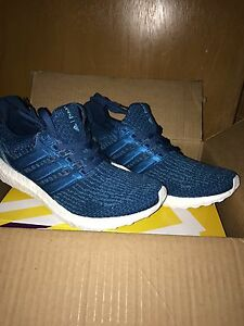 size 40 5be43 0bb06 Details about Men's Adidas Ultra Boost 3.0 x PARLEY Night Navy/Intense Blue  - SIZE: 10.5