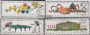 Volksrepublik-China-591-594-kompl-Ausg-gestempelt-1961-Tischtennis-WM