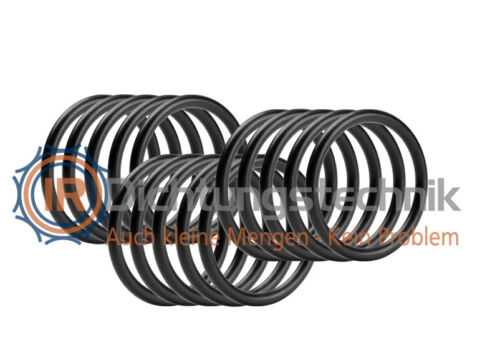30 St. O-Ring Nullring Rundring 6,5 x 1,5 mm EPDM 70 Shore A schwarz