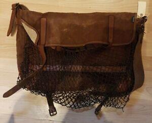 Fiol mask stötte på  Vintage Large BARBOUR Traditional Heavy Canvas Mesh Front Game Bag ...