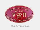 Cast Iron V R Newport Workshop Railway Sign