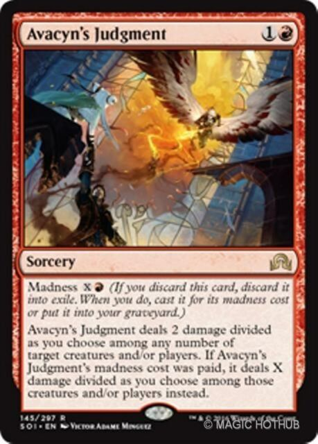 AVACYN'S JUDGMENT Shadows over Innistrad MTG Red Sorcery Rare
