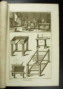 Kerzenhalter-Hersteller-von-Kerzen-Beruf-Antik-XVIII-1767-Komplett-Candle-Maker