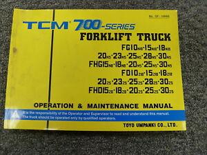 Tcm 700 series fg fhg fd fhd forklift owner operator maintenance image is loading tcm 700 series fg fhg fd fhd forklift fandeluxe Gallery