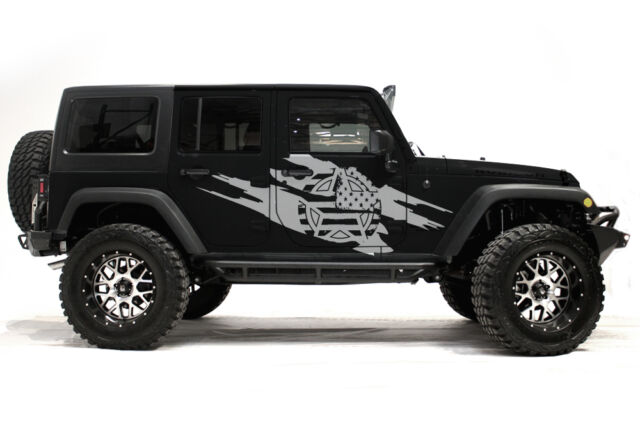 Vinyl Decal Wrap Kit For 4 Door 07 16 Jeep Wrangler Rubicon Army Star