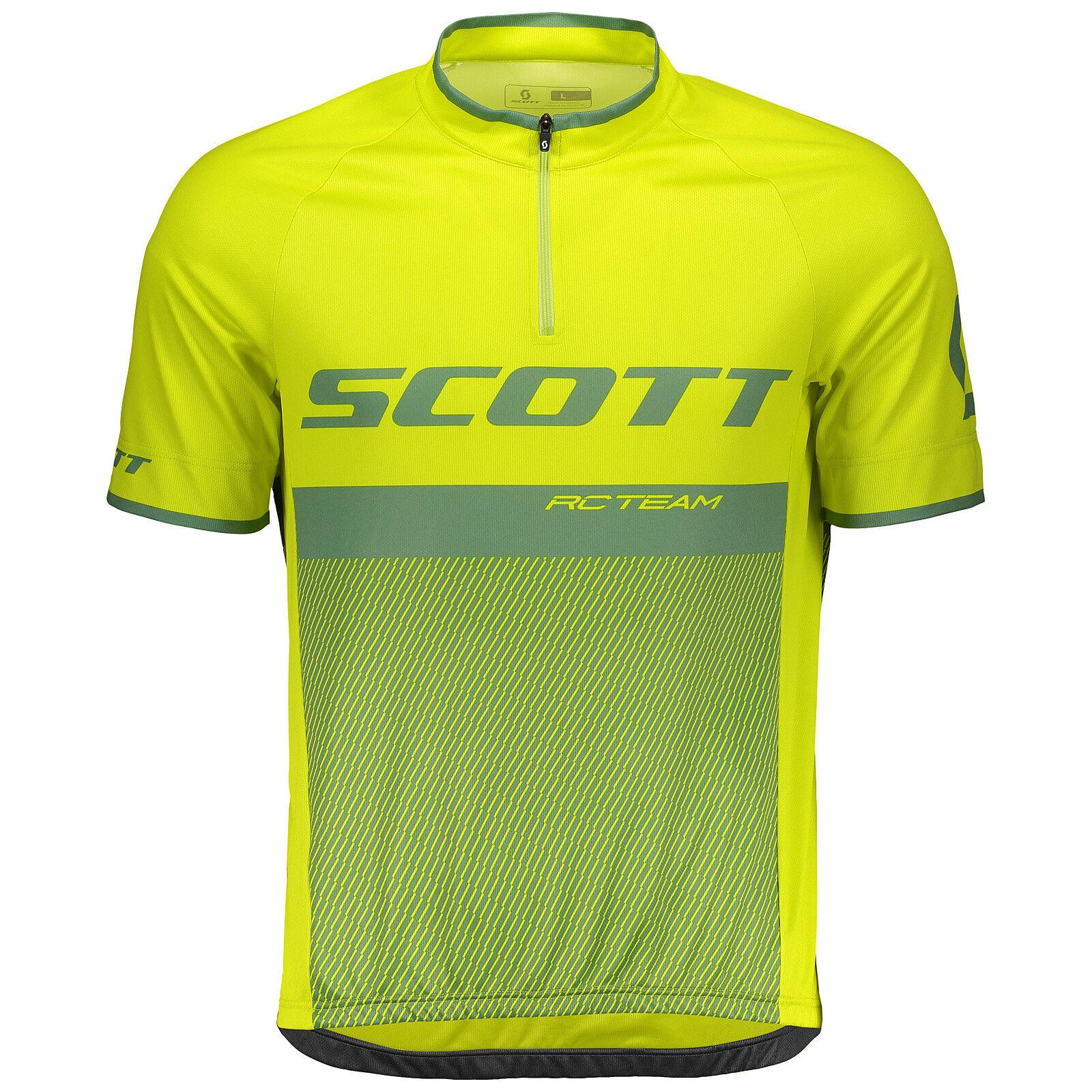 Scott RC Team 20 Fahrrad Trikot kurz gelb/grün 2018