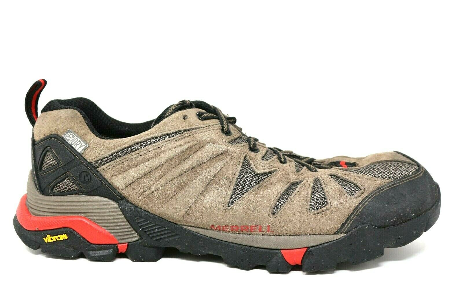 Merrell Boulder Brown Leather Low Hiking Running shoes Mens Size 9.5