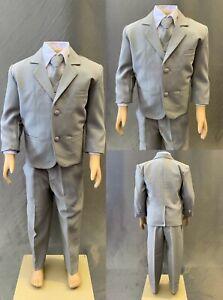 White Communion Elegant NEW Baptism Wedding Toddler Teen Boy Tuxedo Suit