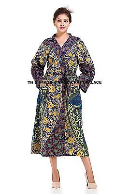 100% QualitäT Women's Mandala Indian Kimono Robes Wedding Bride Dressing Night Gown Bathrobes Vertrieb Von QualitäTssicherung
