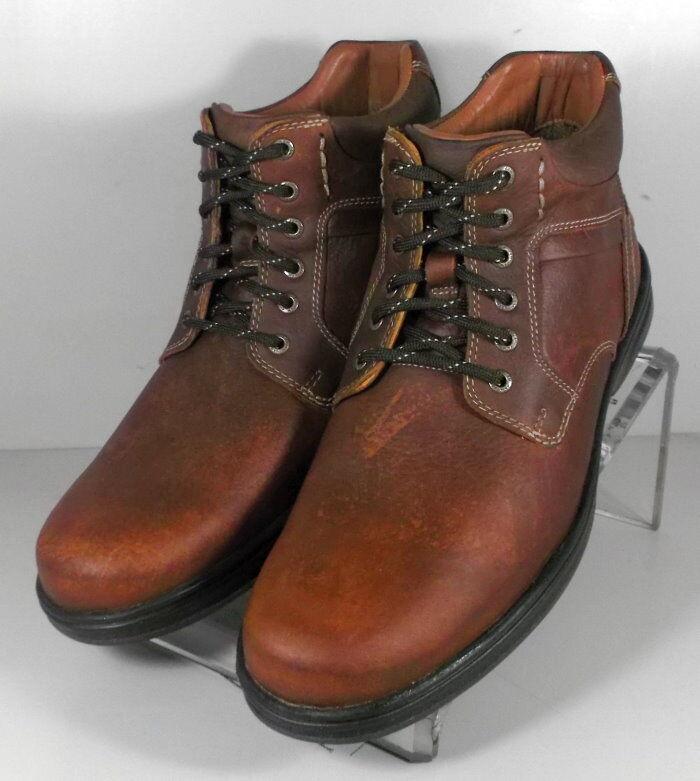 5912352 4-msbt50 scarpe da uomo taglia 9,5 m. brown stivali di pelle johnston & murphy