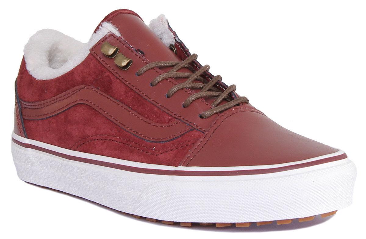 Vans Old Skool Sneaker MTE DX donna in pelle MATT Borgogna MARSHMALLOW Scarpe Da Ginnastica