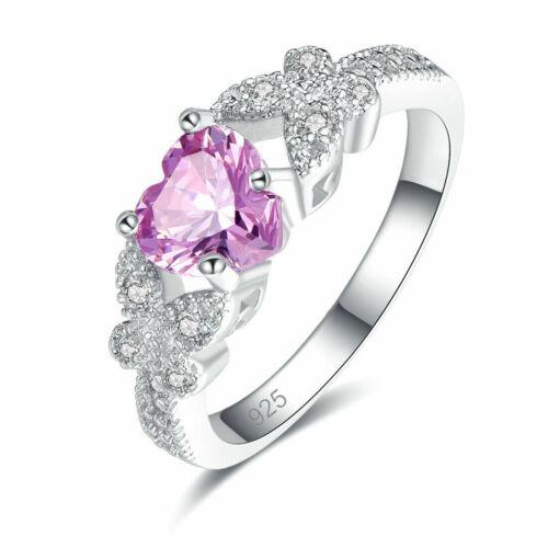 Damen-Ring bildhübsche Ring Sterling Silber 925 Edelstein Rosa Topas
