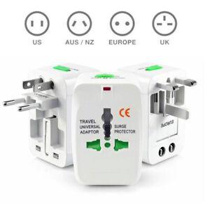 Nouveau-Voyage-Adaptateur-Secteur-Prise-De-Convertisseur-w-USB-Pour-US-AU-UK-EU