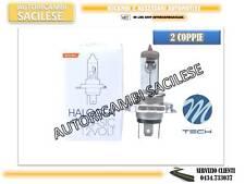 4 LAMPADINE/2 COPPIE ALOGENE H4 12V60/55W OMOLOGATE M-TECH ALTA QUALITA'