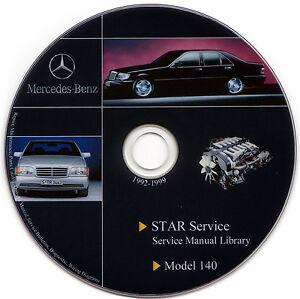 Mercedes benz w140 service manual repair workshop s500 for Mercedes benz r129 service repair workshop manual