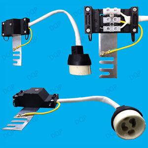 8x GU10 Ceramic Socket Heat Resistant 20cm Flex /& Bridge Down Light Lamp Holder