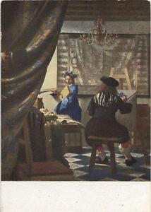 Alte-Kunstpostkarte-Jan-van-der-Meer-Der-Maler-in-seinem-Atelier