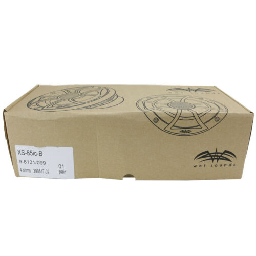 """Wet Sounds XS-65IC-B 6-1//2/"""" 60W RMS Marine Coaxial Speakers w// Black Cone New"""
