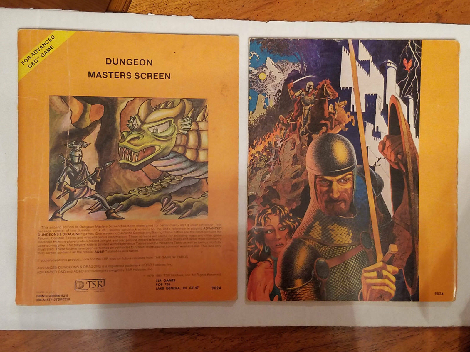 Advanced Dungeons & Dragons - Dungeon Masters Screen - 9024