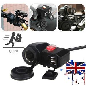 Waterproof-12V-Motorcycle-Motorbike-USB-Charger-Power-Adapter-Socket-Phone-GPS