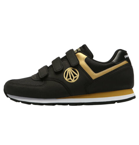 PaperPlanes Athletic Sneakers Suede Running Shoes Men PP1431 BKGD